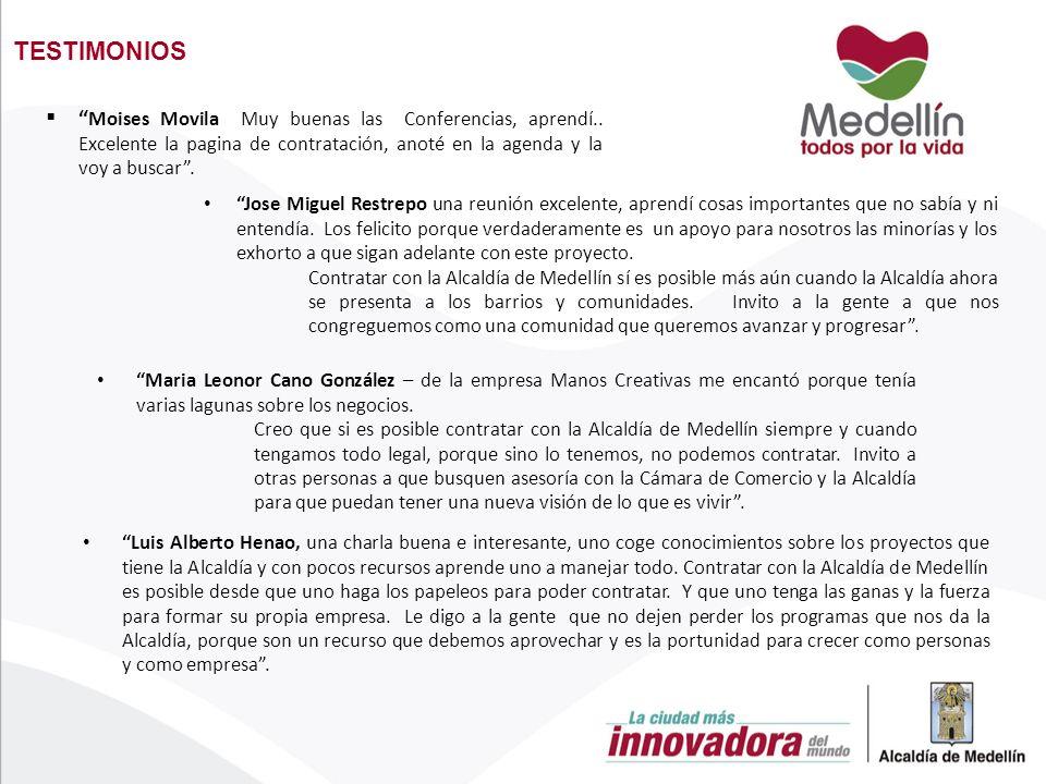 TESTIMONIOS Luis Alberto Henao, una charla buena e interesante, uno coge conocimientos sobre los proyectos que tiene la Alcaldía y con pocos recursos aprende uno a manejar todo.