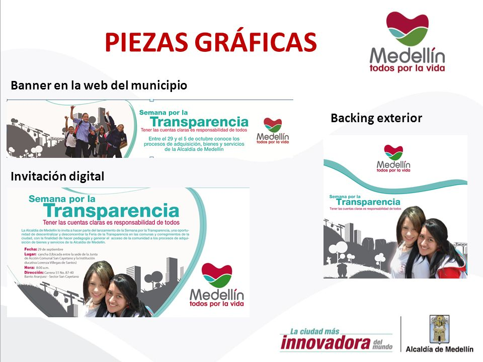 Banner en la web del municipio Invitación digital Backing exterior PIEZAS GRÁFICAS