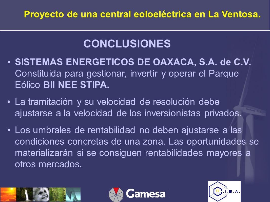 SISTEMAS ENERGETICOS DE OAXACA, S.A. de C.V.