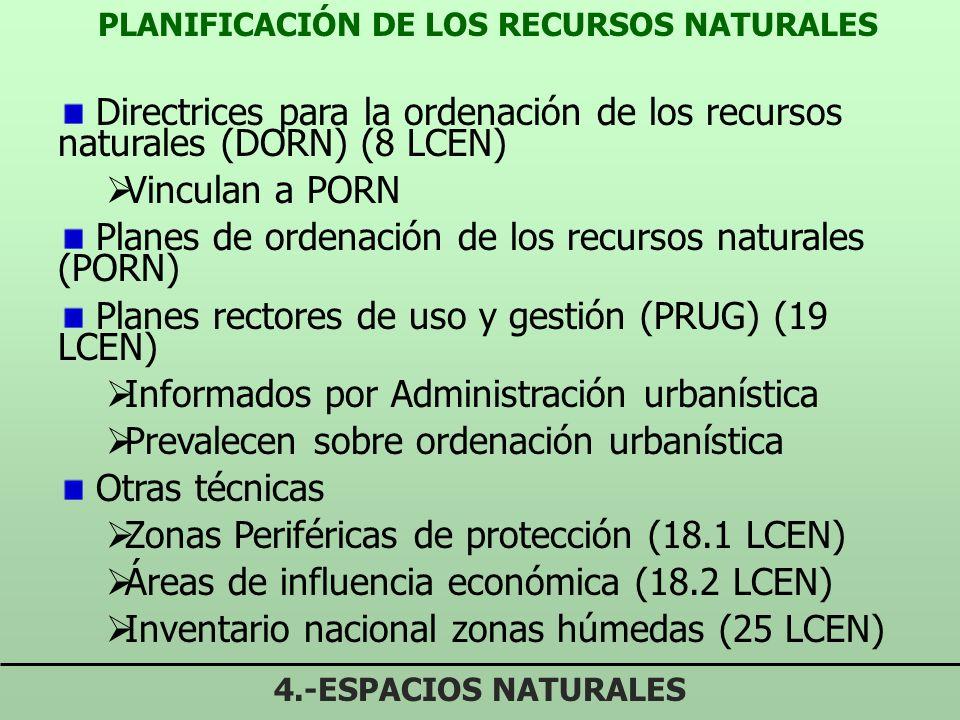 PROCEDIMIENTO DECLARACIÓN ESPACIOS NATURALES PROTEGIDOS 4.-ESPACIOS NATURALES Declaración y gestión espacios naturales corresponde a Comunidades Autón