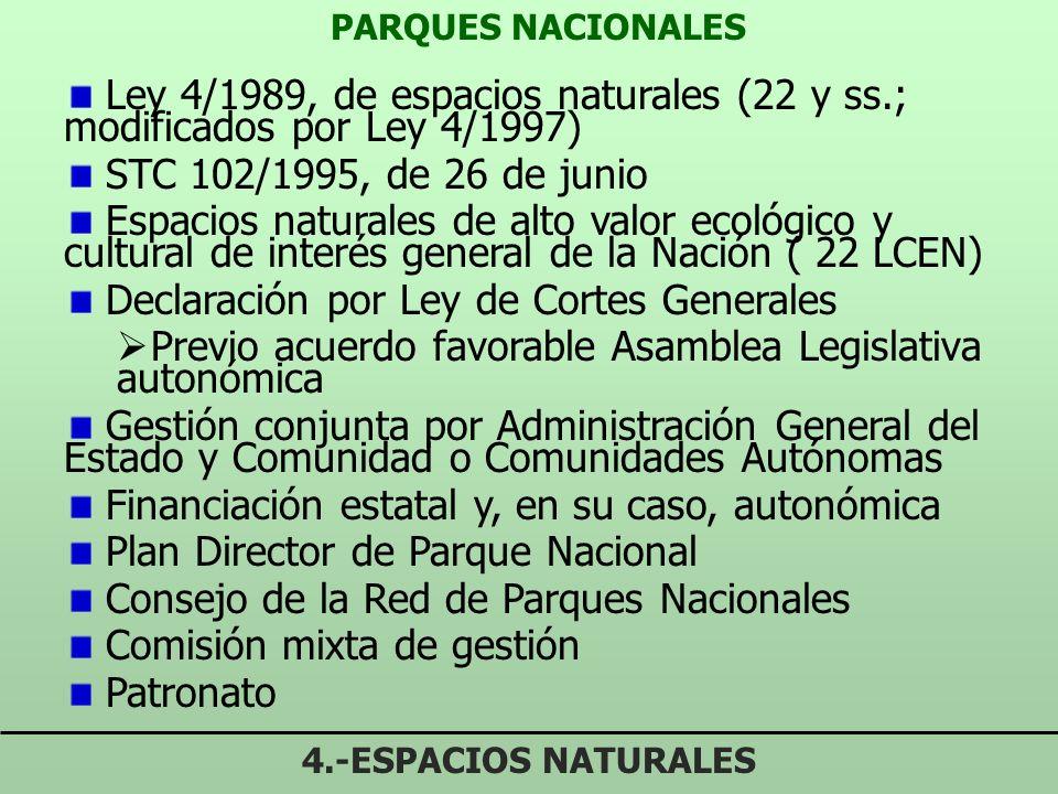PARQUES NACIONALES 4.-ESPACIOS NATURALES Picos de Europa Ordesa y Monte Perdido Aigües Tortes y Lago de San Mauricio Cabañeros Tablas de Daimiel Doñan