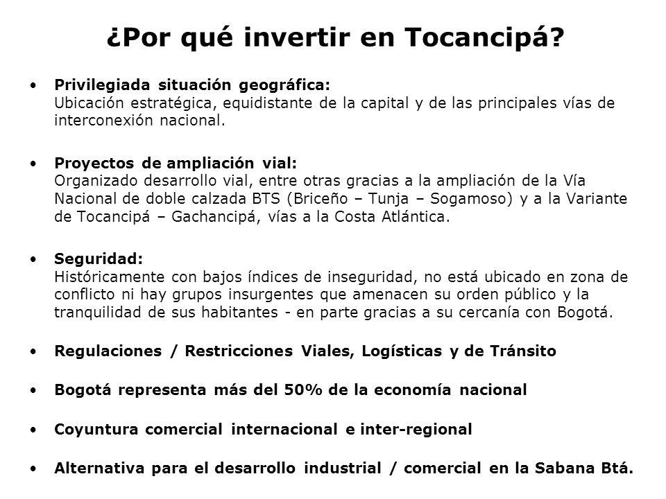 ¿Por qué invertir en Tocancipá? Privilegiada situación geográfica: Ubicación estratégica, equidistante de la capital y de las principales vías de inte