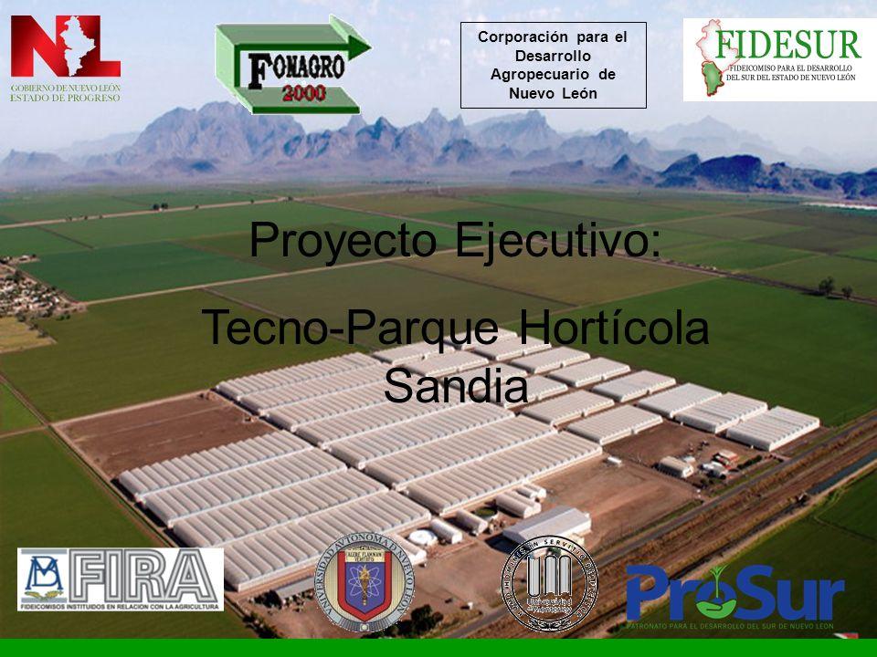 Proyecto Ejecutivo: Tecno-Parque Hortícola Sandia Corporación para el Desarrollo Agropecuario de Nuevo León