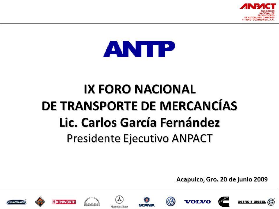 IX FORO NACIONAL DE TRANSPORTE DE MERCANCÍAS Lic.