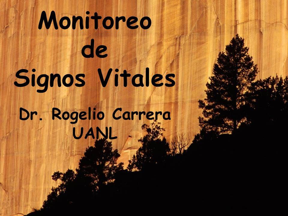 Monitoreo de Signos Vitales Dr. Rogelio Carrera UANL