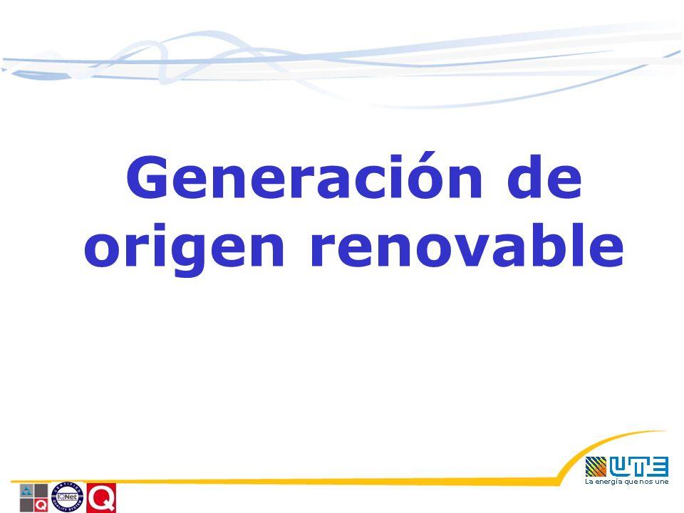 Generación de origen renovable