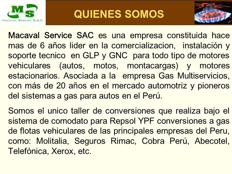 Macaval Service SAC es una empresa constituida hace mas de 6 años lider en la comercializacion, instalación y soporte tecnico en GLP y GNC para todo t