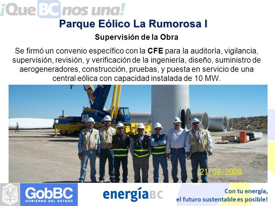 Con tu energía, el futuro sustentable es posible! Obra Civil