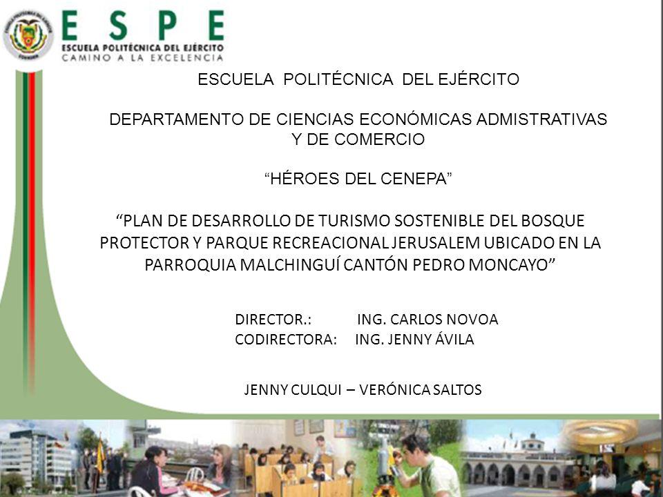1 CAPÍTULO I: FUNDAMENTACIÓN TEÓRICA PLAN DE MANEJO AMBIENTAL DEL BOSQUE PROTECTOR Y PARQUE RECREACIONAL JERUSALEM ROVAP (RANGO DE OPORTUNIDAD PARA LOS VISITANTE EN ÁREAS PROTEGIDAS) ROVAP (RANGO DE OPORTUNIDAD PARA LOS VISITANTE EN ÁREAS PROTEGIDAS) PLAN DE DESARROLLO DE TURÍSMO SOSTENIBLE DEL BOSQUE PROTECTOR Y PARQUE RECREACIONAL JERUSALEM INGENIERÍA EN ADMINISTRACIÓN TURÍSTICA Y HOTELERA