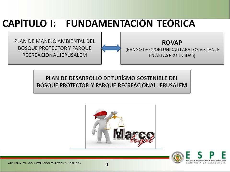 1 CAPÍTULO I: FUNDAMENTACIÓN TEÓRICA PLAN DE MANEJO AMBIENTAL DEL BOSQUE PROTECTOR Y PARQUE RECREACIONAL JERUSALEM ROVAP (RANGO DE OPORTUNIDAD PARA LO