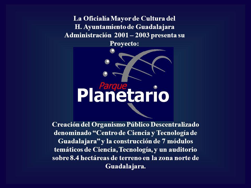 La Oficialía Mayor de Cultura del H. Ayuntamiento de Guadalajara Administración 2001 – 2003 presenta su Proyecto: Creación del Organismo Público Desce