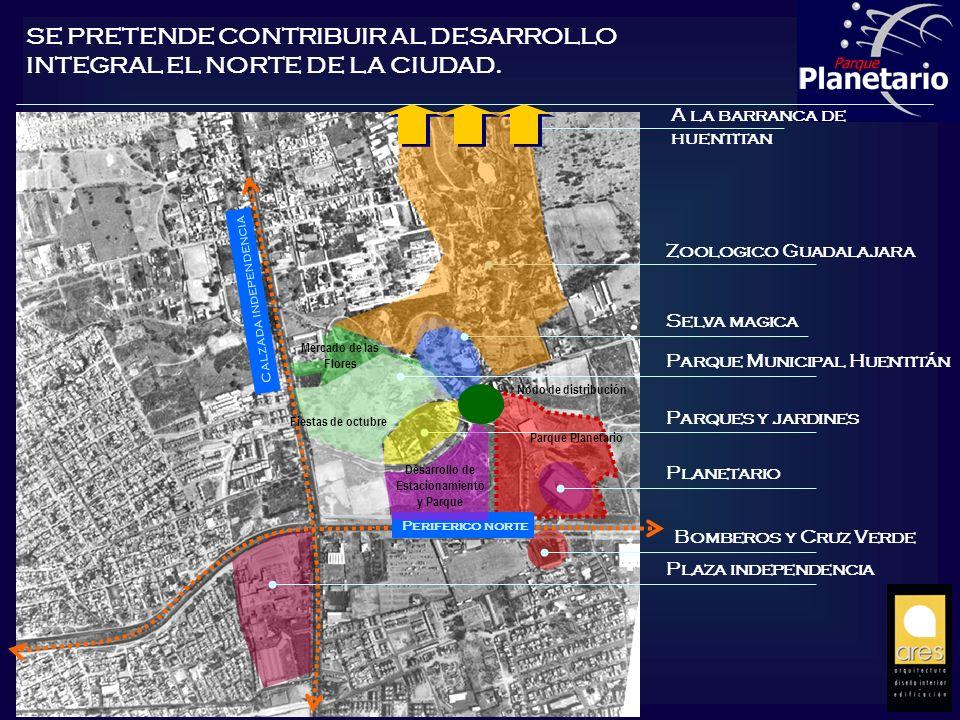 Planetario Parque Municipal Huentitán Parques y jardines Zoologico Guadalajara Selva magica Plaza independencia Bomberos y Cruz Verde A la barranca de