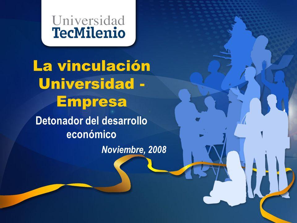 Universidad TecMilenio Agenda La vinculación como un ingrediente fundamental en las universidades Parques Tecnológicos: Un caso práctico