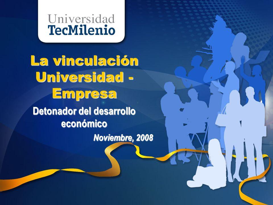 La vinculación Universidad - Empresa Detonador del desarrollo económico Noviembre, 2008