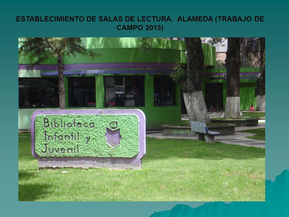 ESTABLECIMIENTO DE SALAS DE LECTURA. ALAMEDA (TRABAJO DE CAMPO 2013)