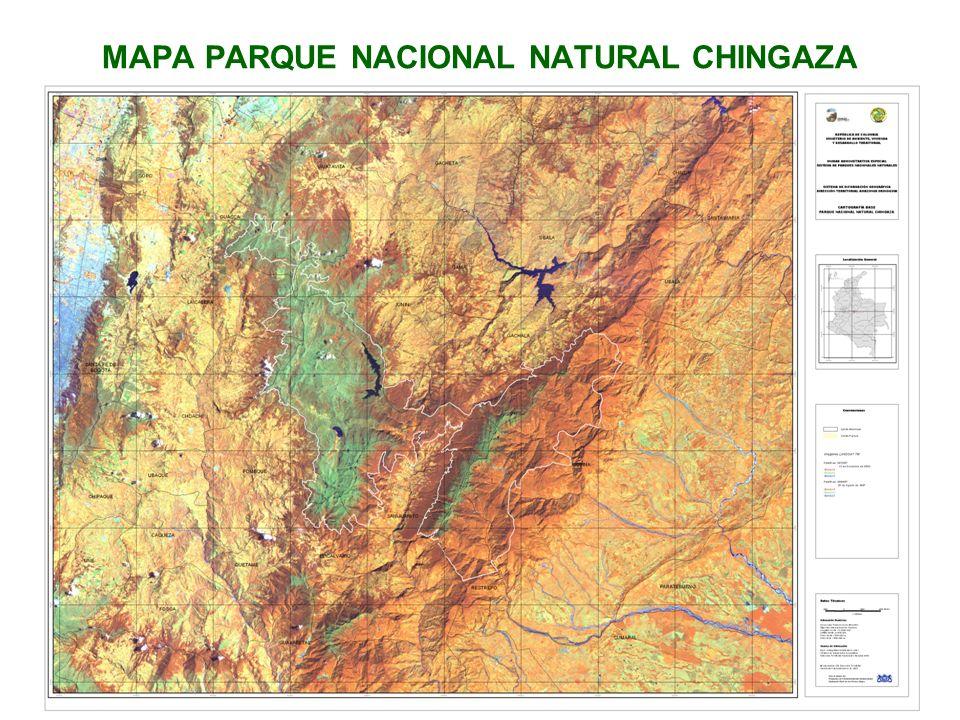MAPA PARQUE NACIONAL NATURAL CHINGAZA