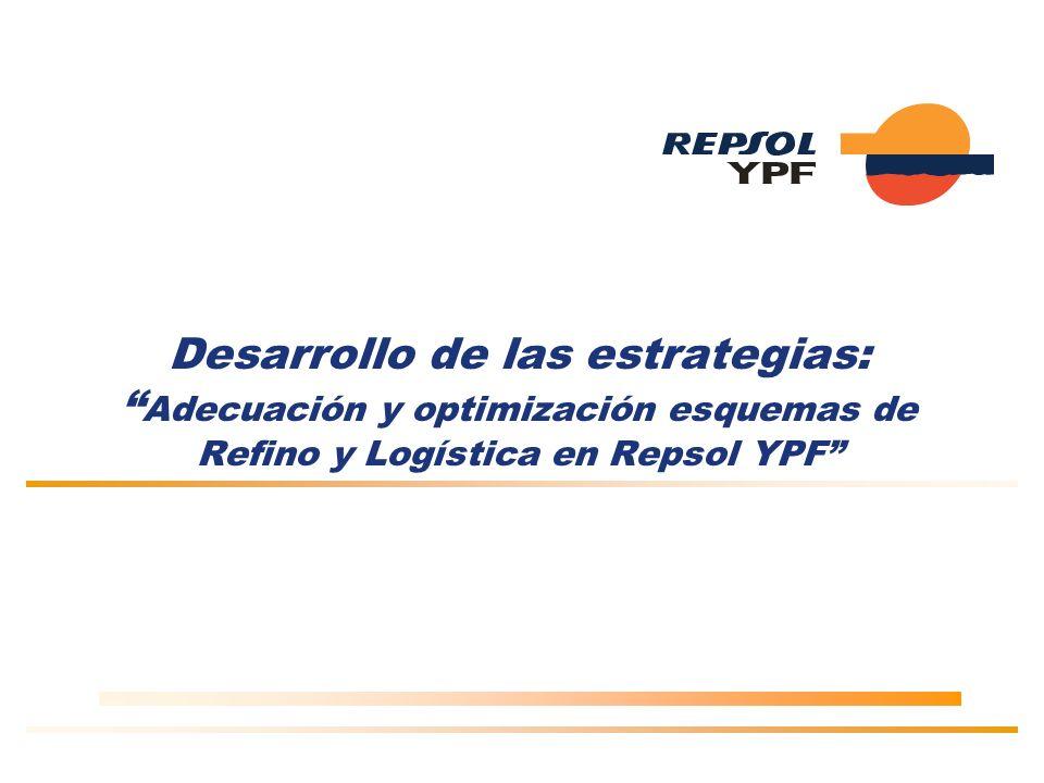 Desarrollo de las estrategias: Adecuación y optimización esquemas de Refino y Logística en Repsol YPF