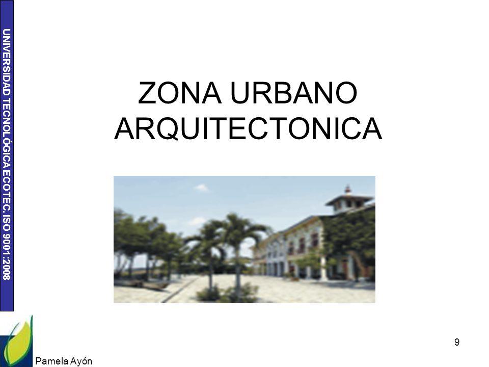 UNIVERSIDAD TECNOLÓGICA ECOTEC. ISO 9001:2008 Pamela Ayón 9 ZONA URBANO ARQUITECTONICA