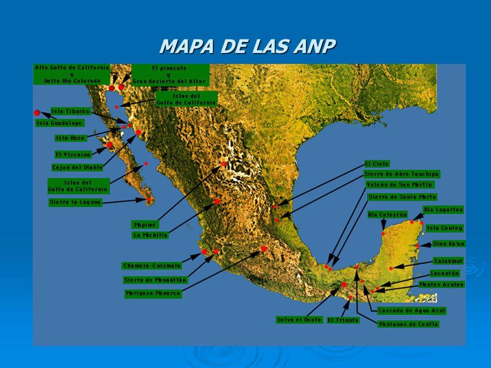 Parques nacionales 1) Arrecife Alacranes33) Fuentes Brotantes de Tlalpan 2) Arrecifes de Cozumel34) Gral.