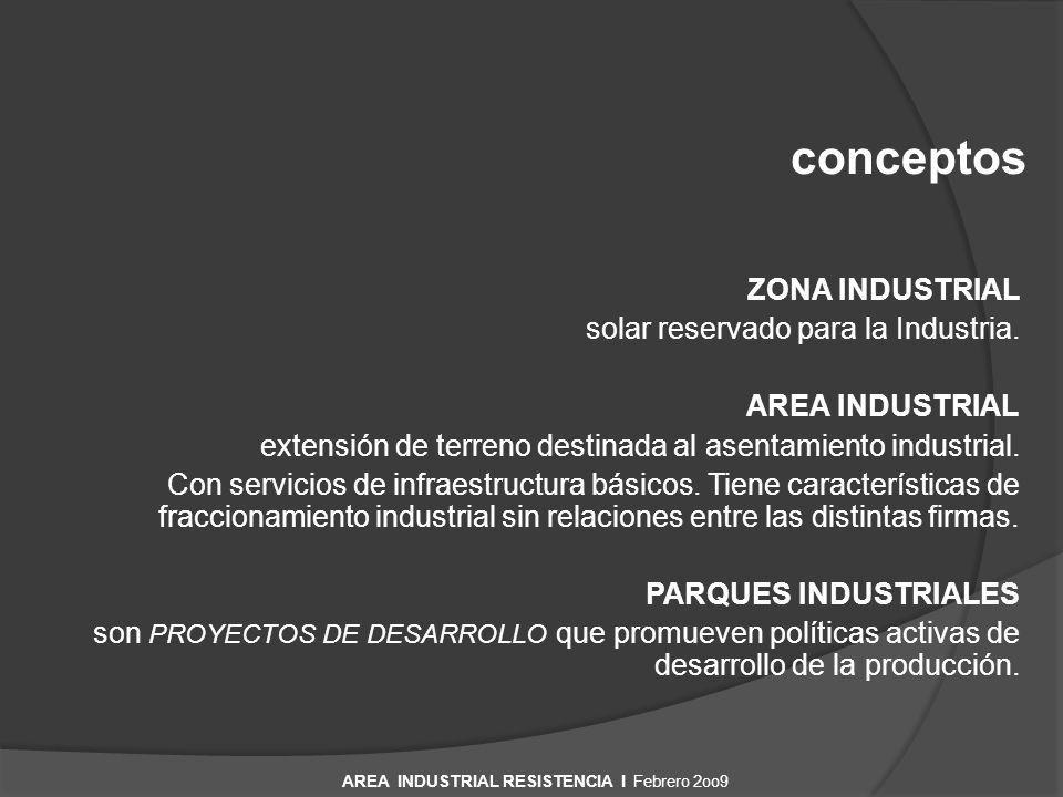 RESISTENCIA Ciudad Intermedia AREA INDUSTRIAL RESISTENCIA I Febrero 2oo9 Centro urbano.