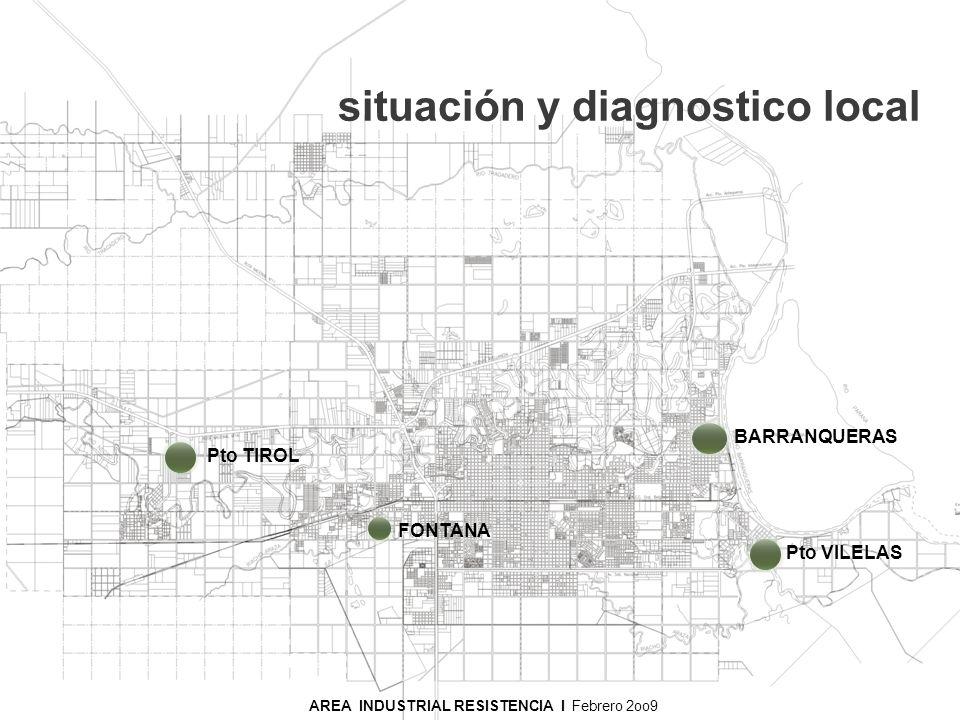 situación y diagnostico local AREA INDUSTRIAL RESISTENCIA I Noviembre 2008 Pto TIROL FONTANA Pto VILELAS BARRANQUERAS AREA INDUSTRIAL RESISTENCIA I Fe