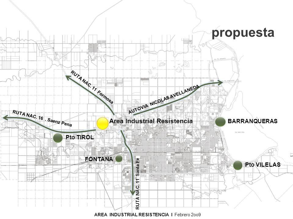 PARQUE INDUSTRIAL RESISTENCIA I Noviembre 2008 propuesta AREA INDUSTRIAL RESISTENCIA I Noviembre 2008 Area Industrial Resistencia AUTOVIA NICOLAS AVEL