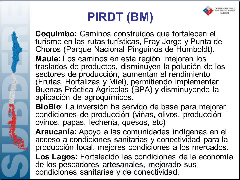 PIRDT (BM) Coquimbo: Caminos construidos que fortalecen el turismo en las rutas turísticas, Fray Jorge y Punta de Choros (Parque Nacional Pinguinos de