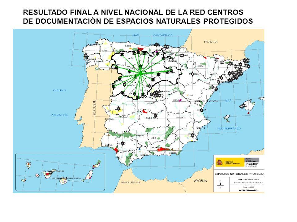 PANORAMA NACIONAL RED RECIDA.Red de CDENP del estado Español.