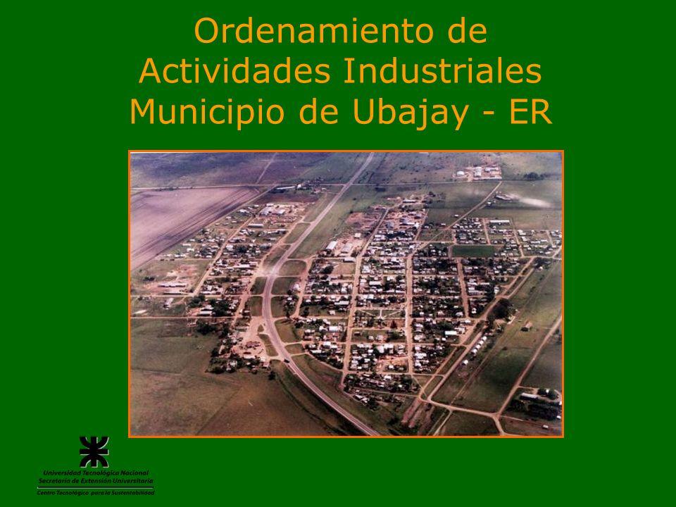 Ordenamiento de Actividades Industriales Municipio de Ubajay - ER