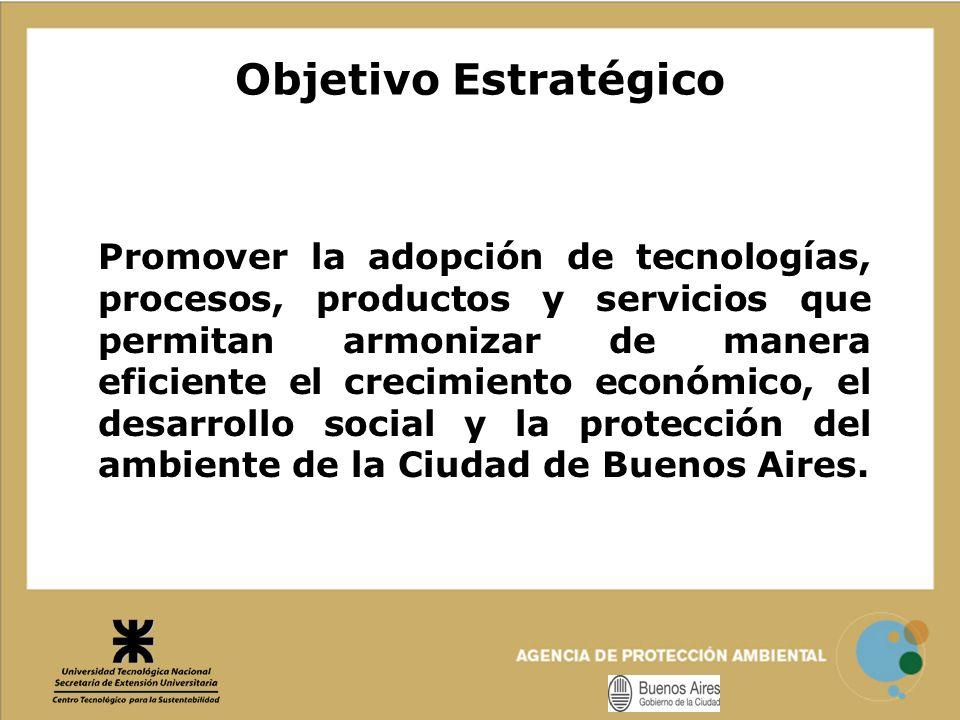 Objetivo Estratégico Promover la adopción de tecnologías, procesos, productos y servicios que permitan armonizar de manera eficiente el crecimiento ec