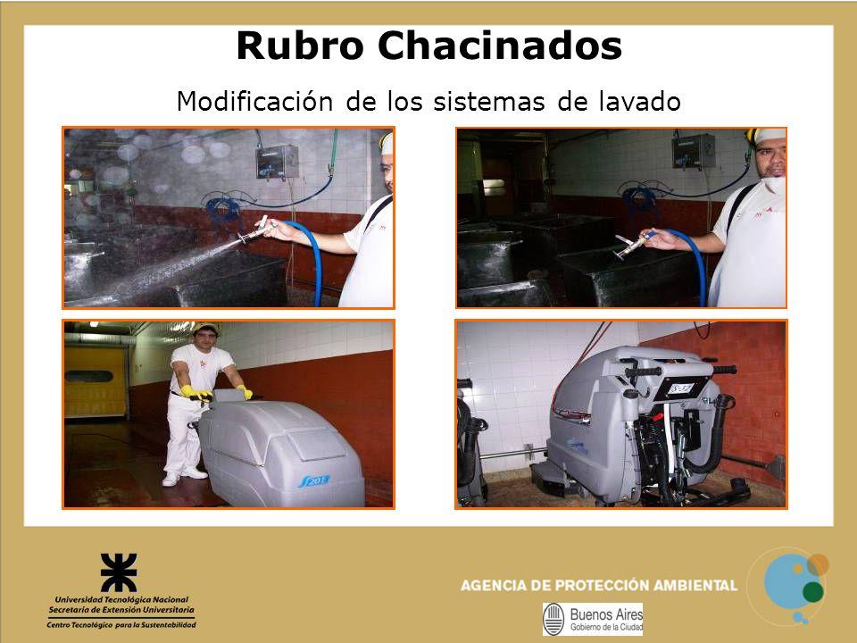 Modificación de los sistemas de lavado Rubro Chacinados