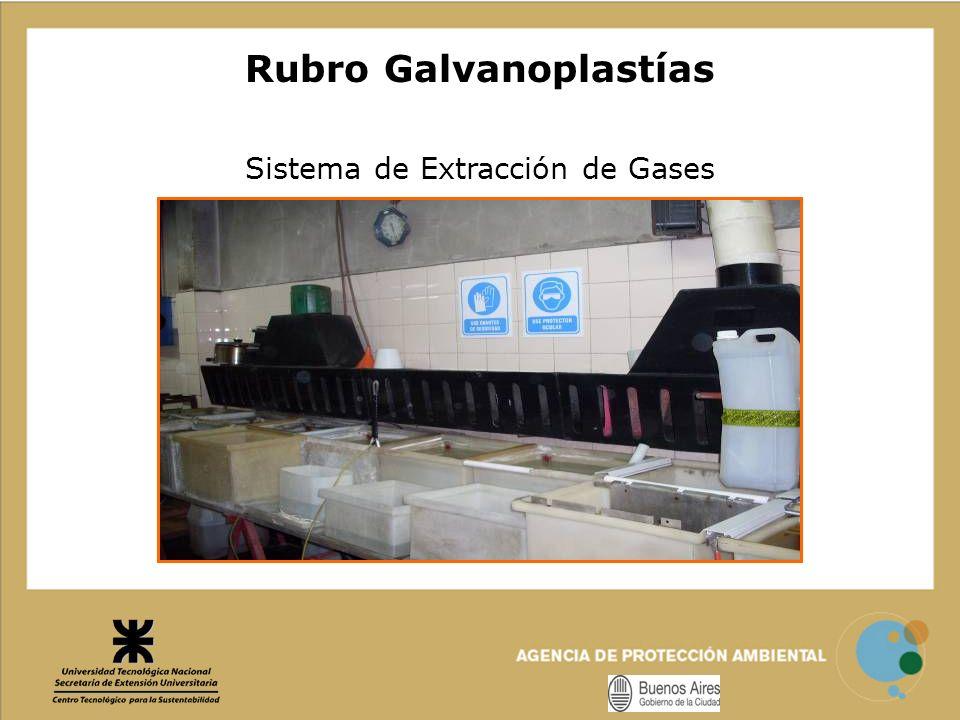 Rubro Galvanoplastías Sistema de Extracción de Gases