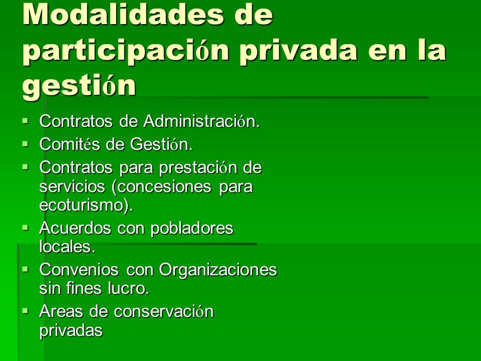 Modalidades de participaci ó n privada en la gesti ó n Contratos de Administraci ó n. Contratos de Administraci ó n. Comit é s de Gesti ó n. Comit é s