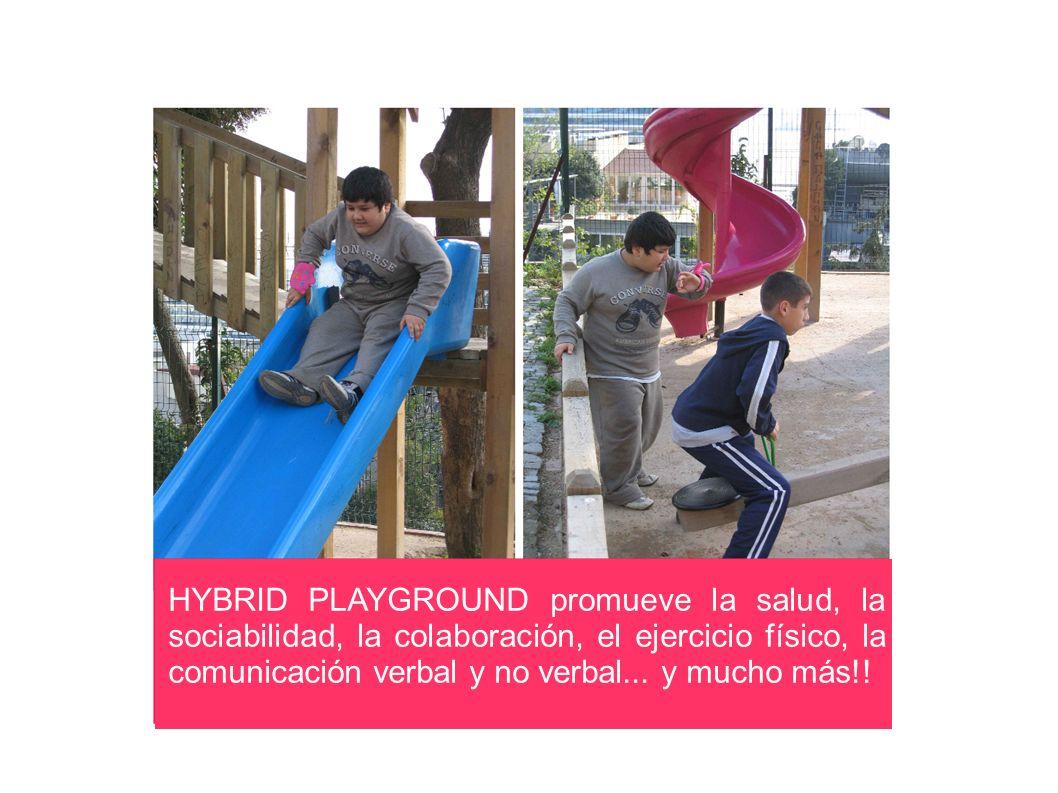 HYBRID PLAYGROUND promueve la salud, la sociabilidad, la colaboración, el ejercicio físico, la comunicación verbal y no verbal...