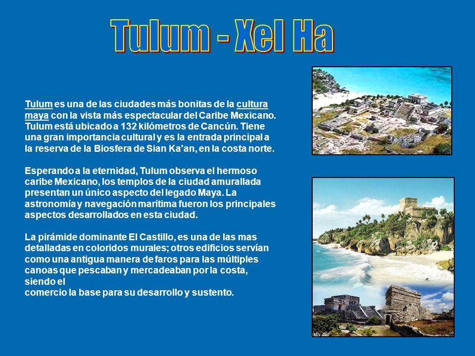 Tulum es una de las ciudades más bonitas de la cultura maya con la vista más espectacular del Caribe Mexicano. Tulum está ubicado a 132 kilómetros de