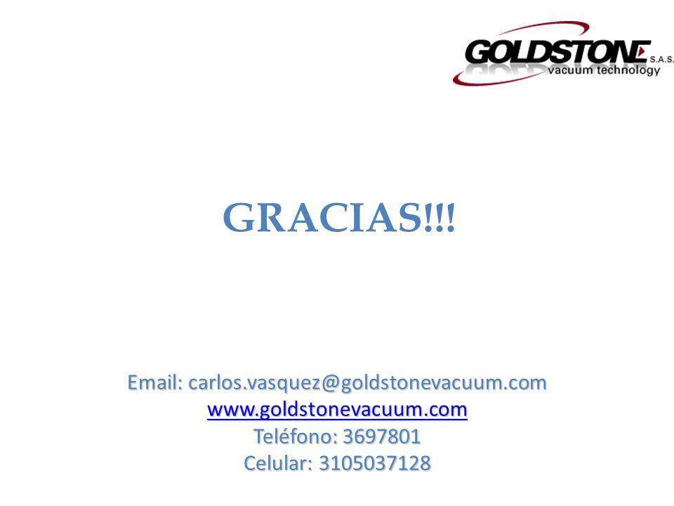 Email: carlos.vasquez@goldstonevacuum.com www.goldstonevacuum.com Teléfono: 3697801 Celular: 3105037128 GRACIAS!!!