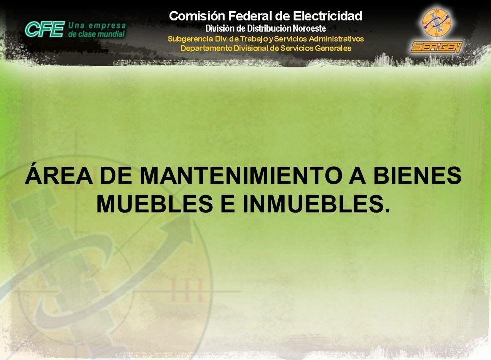 ÁREA DE MANTENIMIENTO A BIENES MUEBLES E INMUEBLES.