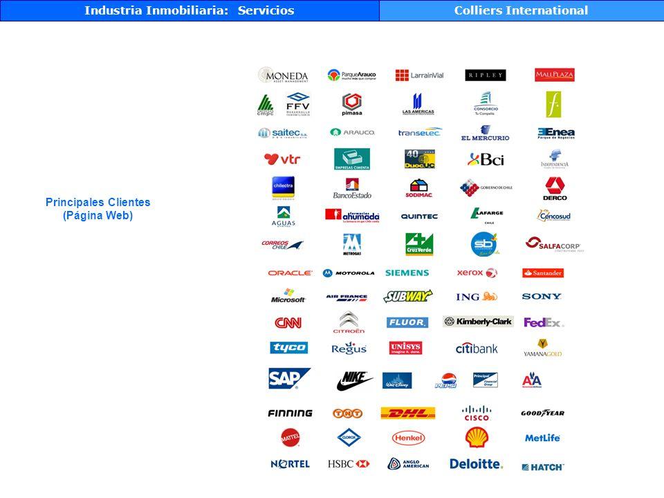 Industria Inmobiliaria: ServiciosColliers International Principales Clientes (Página Web)