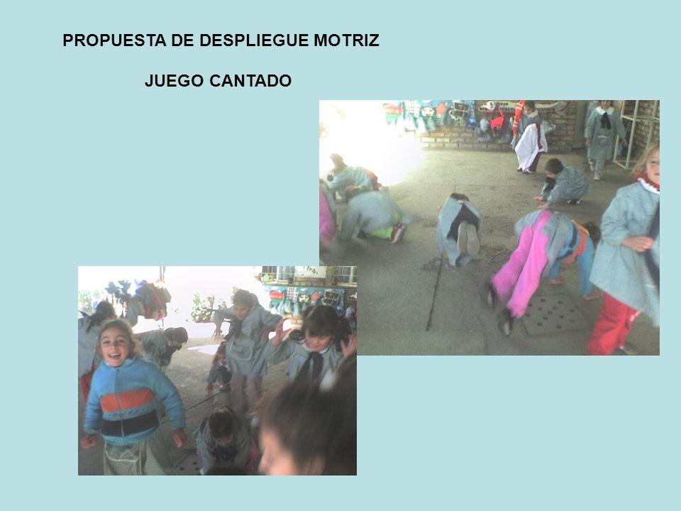 PROPUESTA DE DESPLIEGUE MOTRIZ JUEGO CANTADO