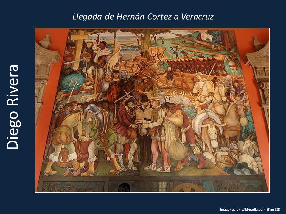 Llegada de Hernán Cortez a Veracruz Diego Rivera Imágenes en wikimedia.com (Kgu 88)
