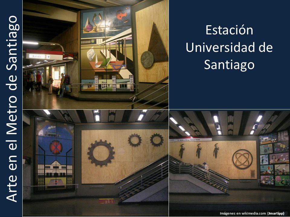 Arte en el Metro de Santiago Estación Universidad de Santiago Imágenes en wikimedia.com (Jmartipp) )