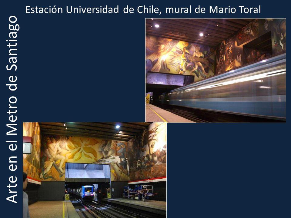 Estación Universidad de Chile, mural de Mario Toral Arte en el Metro de Santiago