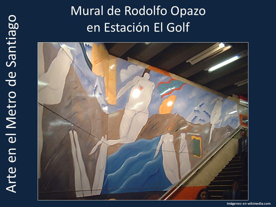 Mural de Rodolfo Opazo en Estación El Golf Arte en el Metro de Santiago Imágenes en wikimedia.com