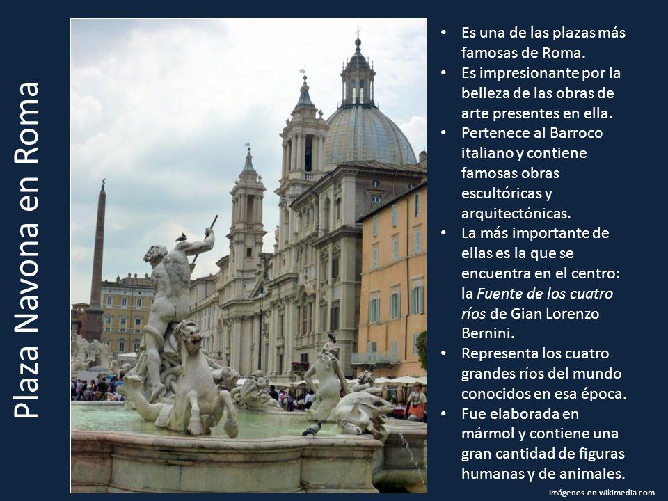 Plaza Navona en Roma Es una de las plazas más famosas de Roma. Es impresionante por la belleza de las obras de arte presentes en ella. Pertenece al Ba
