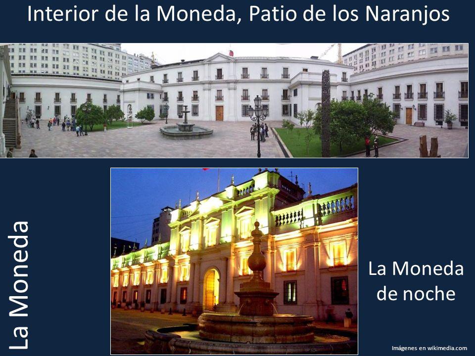 Interior de la Moneda, Patio de los Naranjos La Moneda La Moneda de noche Imágenes en wikimedia.com