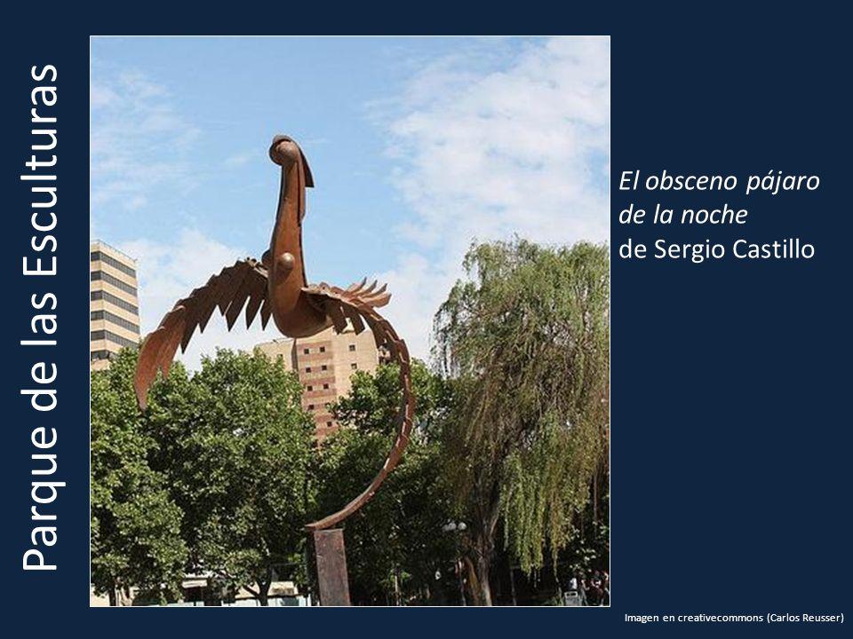 Parque de las Esculturas El obsceno pájaro de la noche de Sergio Castillo Imagen en creativecommons (Carlos Reusser)