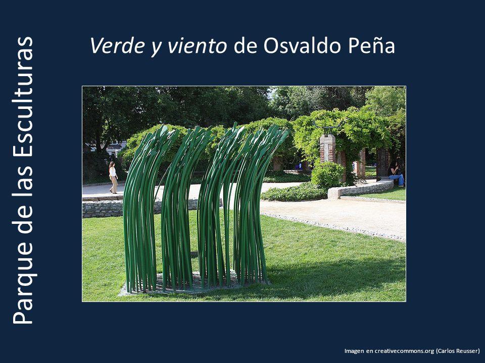 Verde y viento de Osvaldo Peña Parque de las Esculturas Imagen en creativecommons.org (Carlos Reusser)