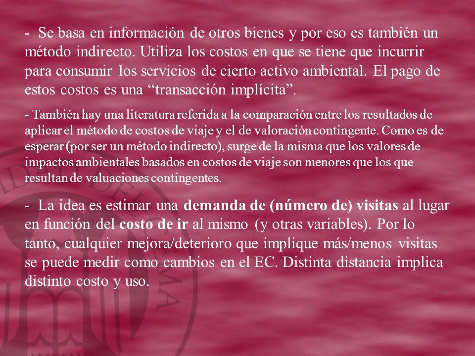 - Se basa en información de otros bienes y por eso es también un método indirecto.