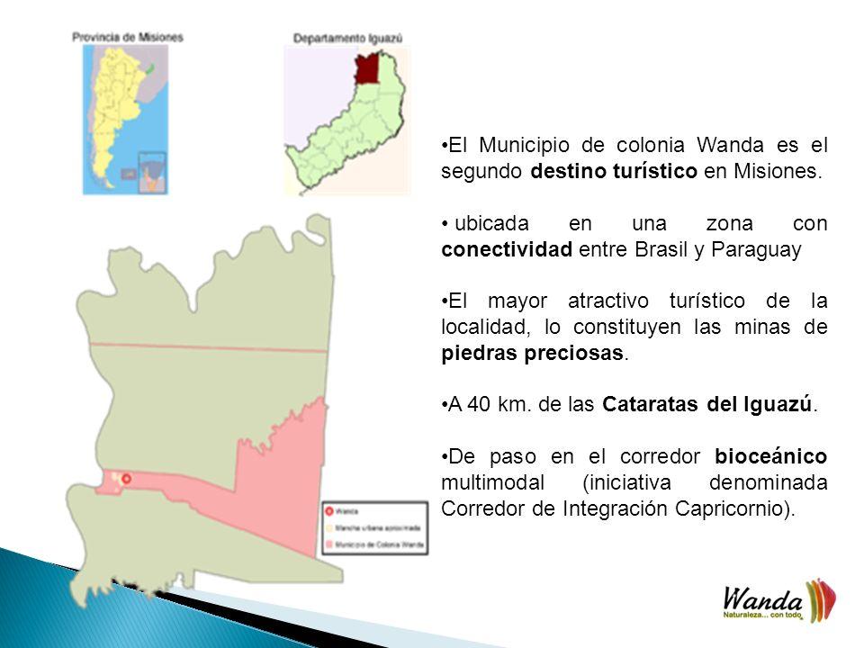 El Municipio de colonia Wanda es el segundo destino turístico en Misiones.