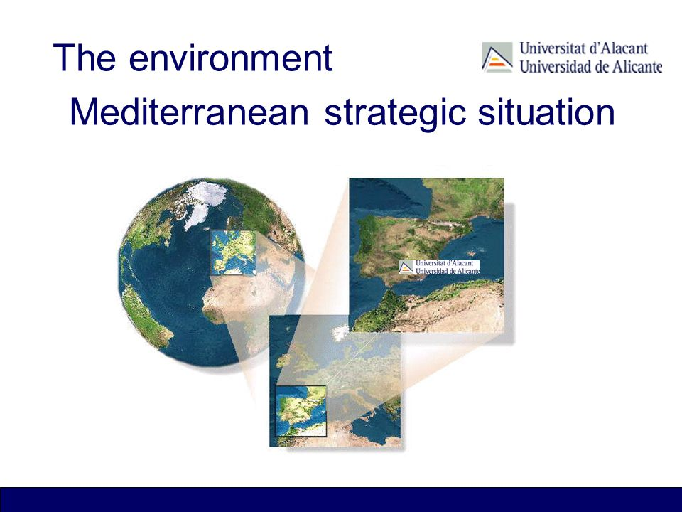 Mediterranean strategic situation The environment